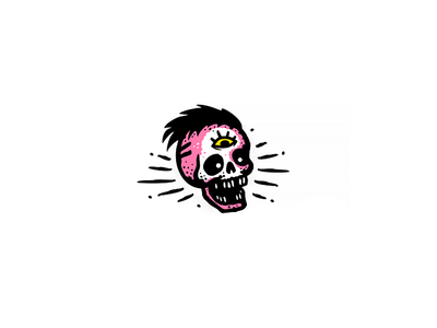Skull for rock band sticker rock band logo skull