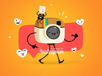 Follow Me funny camera cute instagram cartoon