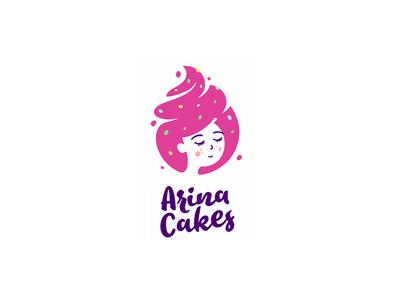 Logo for confectioner sugar hair pancakes cakes girl logo confectioner home