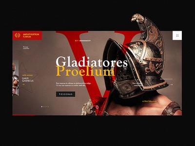 Romae amphitheatrum Flavium rspq gladiator coliseum ticket promo rome web design site