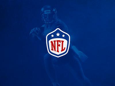 NFL Logotype ReDesign branding vector redesign logotype design logo