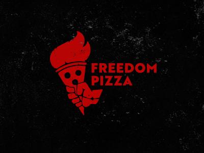 Freedom pizza torch pizza freedom pizzeria logo