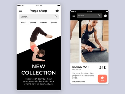 Yoga shop iOS app