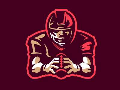 Football Player Mascot Logo for only $120
