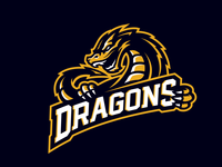 """""""Dragons"""" Sports Logo For Sale"""