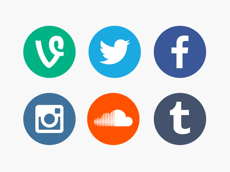 Social Network Icons by Kevin Zeller on Dribbble