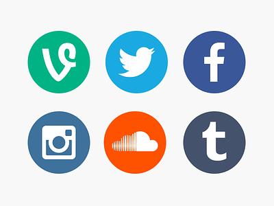 Social Network Icons social network icon icons vine twitter facebook instagram soundcloud tumblr flat png