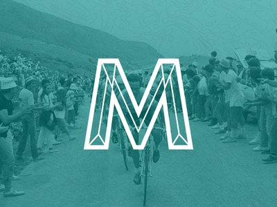 M-Logo logo bicycle company retro vintage m