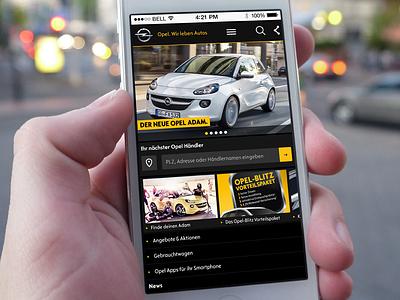 Opel.de mobile opel mobile website iphone responsive