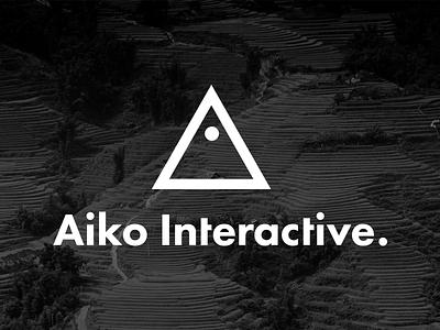 Aiko Interactive Logo design studio logo aiko interactive a futura logotype