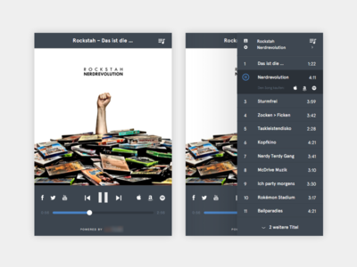 Music Player v.1 music player design ux ui spotify amazon itunes blue player music web
