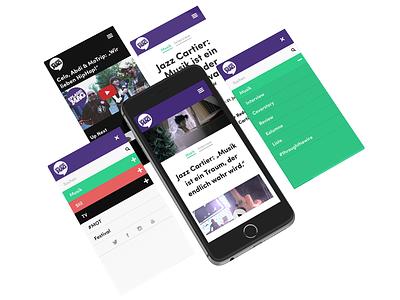 Splash! Mag  green ux ui purple blog german responsive app music magazine mobile web