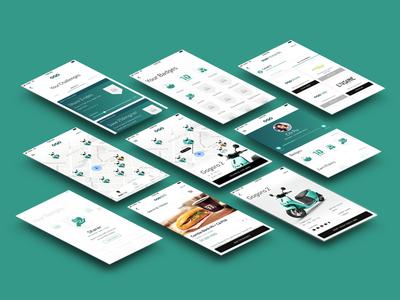 ogo scooter sharing iphone bike shop rewards map smart ux ui design app sharing scooter