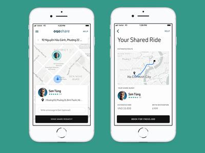 ogo share iphone bike shop rewards map smart ux ui design app sharing scooter