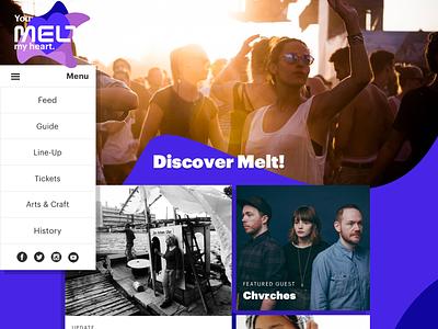 Melt! Festival 2016 Proposal menu melt music festival ux ui design web