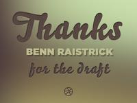 Thanks Benn