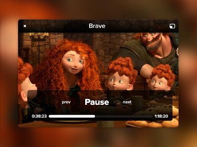 Mini Player rebound player merida movie brave film ui ux pixar disney