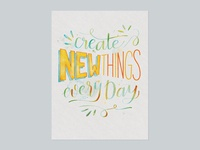 Create New Things