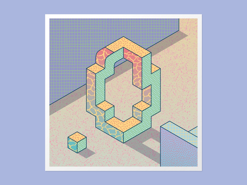 Isometric O 36days-o textures patterns vector adobe illustrator 36daysoftype 36 days of type typography handlettering type daily 3dlettering customtype illustration