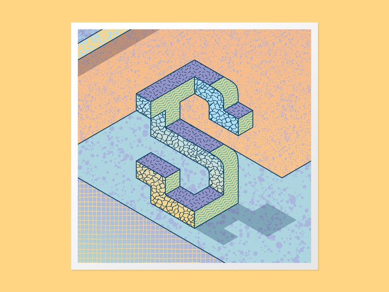 Isometric S 36days-s illustration adobe illustrator 36daysoftype 36 days of type customtype handlettering type daily 3dlettering