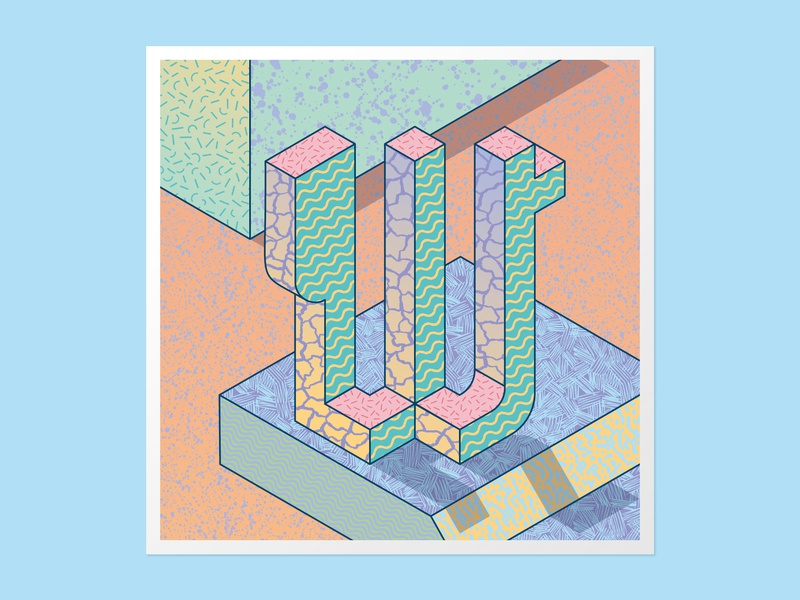 Isometric W 36days-w vector adobe illustrator customtype 36 days of type 36daysoftype 3dlettering typography lettering