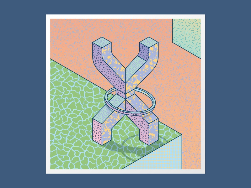 Isometric X 36days-x textures illustration vector 36 days of type 36daysoftype adobe illustrator handlettering customtype type daily 3dlettering typography lettering