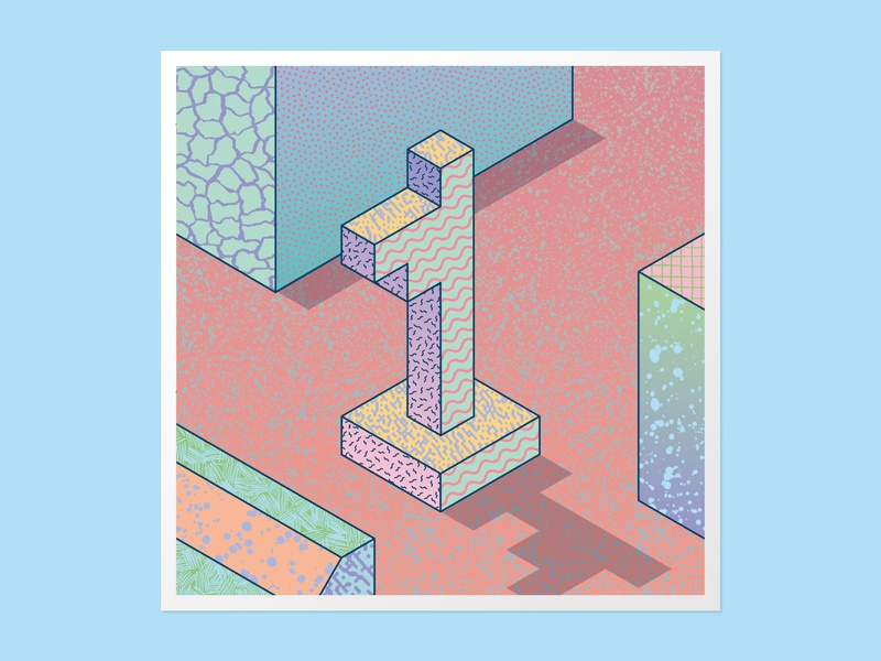 Isometric 1 36days-1 adobe illustrator handlettering lettering vector 36daysoftype 36 days of type customtype type daily 3dlettering