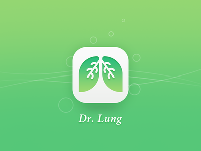 Dr. Lung breath health icon ui logo lung