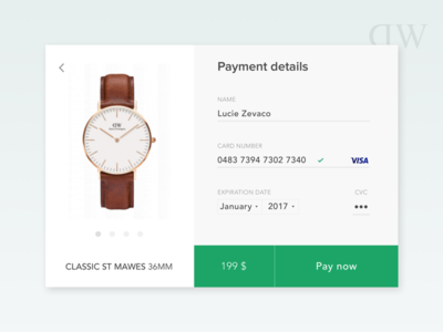 #DailyUI 2 - Credit card checkout