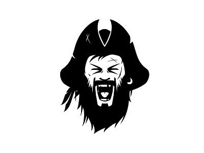 Blackbeard argh face beard illustration logo character pirate blackbeard