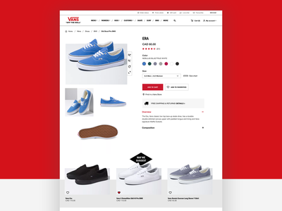 Vans Redesign ecommerce shop product page ecommerce vans redesign ui ux webdesign ui design