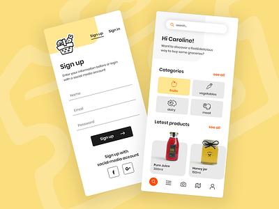 Shop&Go Mobile App mobile ui menu mobile mobile app design food app mobile apps mobile app ui design
