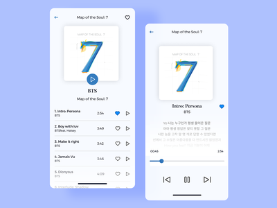Music player app blue clean ui playlist player app daily ui 09 daily ui 009 daily 100 challenge 09 daily ui daily ui 9 ui challenge 09 ui challenge ui challenge minimalistic light mode music player app music player music mobile app ui design