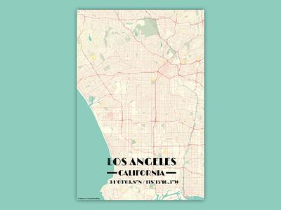 LA Vintage City Map vintage map newbie city affinity designer affinitydesigner