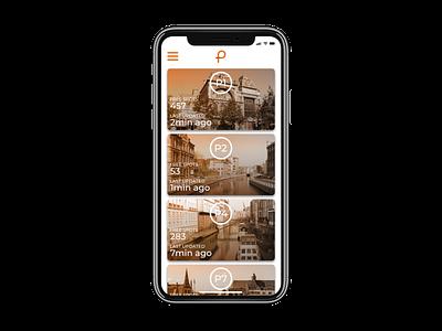 Parking App design mockup ui belgium parkin.gent affinity designer newbie affinitydesigner ios