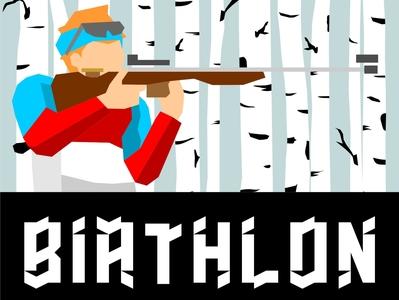 biatlon logo concept