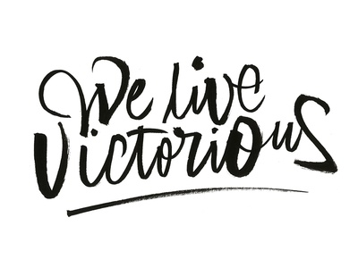 We live victorious graphicdesign web letters lettering print logo design