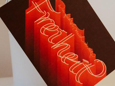 Du führst mich in die Freiheit print handmade lettering design