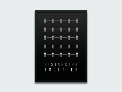 Distancing Together together socialdistancing print poster design poster people idea distance coronavirus corona typography graphic design identity brand branding design graphic simple minimal