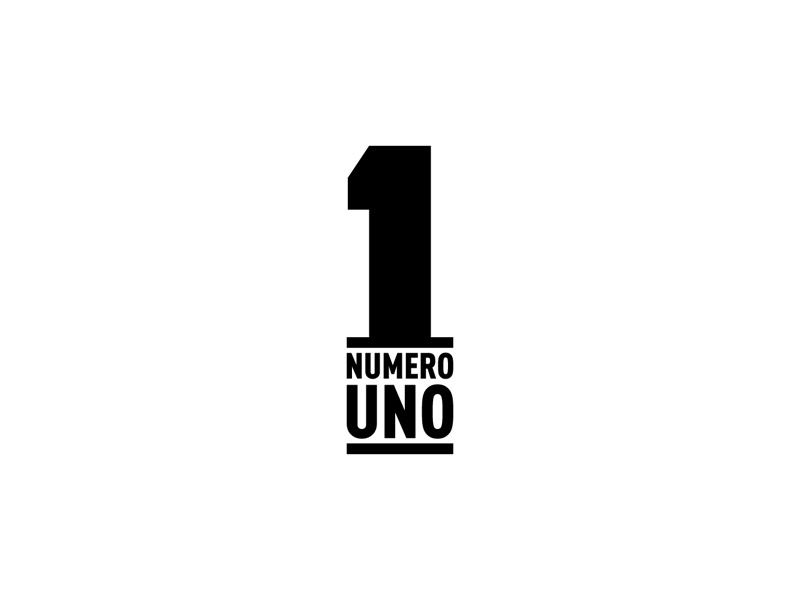 Numero Uno one number simple idea graphic design minimal logo lettering typography letter