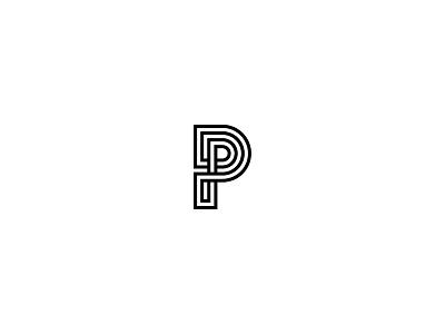 P p simple idea graphic design minimal logo lettering typography letter