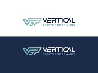 Vertical Sports Performance brand identity visual  identity sport company simple minimal lettering monogram graphic design identity branding brand letter typography graphic design idea logo