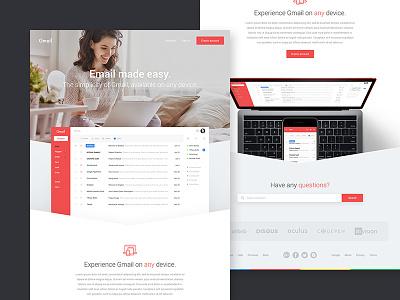 Gmail Landing Page landing page website web google gmail email design ux ui