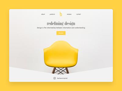 Bauhaus Homepage Design design web design ux design ui design ux ui homepage bauhaus