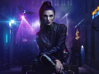 Cyberpunk 2077 Composite cyberpunk digital art photoshop illustrator composite game design photo art photomanipulation retouching