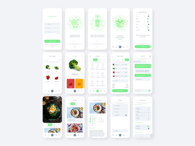 Fresh Food UI Kit free design ui kit ux ui xd adobe xd adobe
