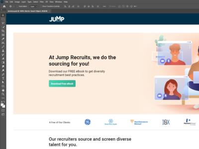 Client - Jump - Service page recruit job adobe photoshop adobe design ui design clean website ux design ui ux user experience user interface