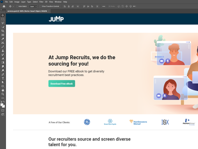 Client - Jump - Service page recruit job adobe photoshop adobe design ui design clean website ux design ui ux user experience user interface