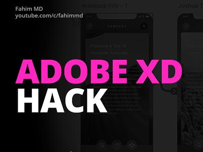 Adobe XD Artboard HACK adobexd artboard adobe ux user experience ux design design user interface ui design ui adobe xd