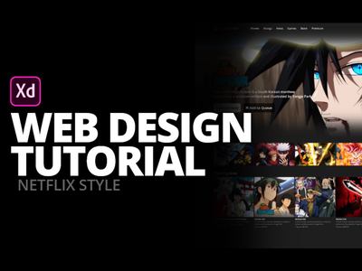 Web Design Tutorial on Adobe XD ux design clean user experience ux anime web design tutorial ui website ui design user interface adobe xd adobe